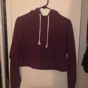 Cropped magenta hoodie REALLY GOOD QUALITY
